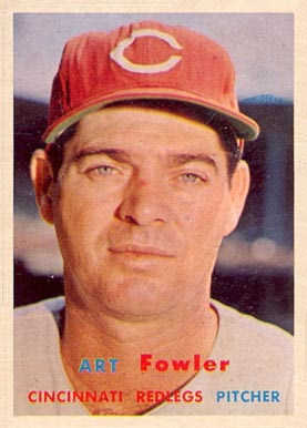 1957 Topps Art Fowler #233 Baseball Card