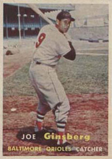 1957 Topps Joe Ginsberg #236 Baseball Card