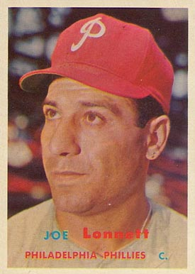1957 Topps Joe Lonnett #241 Baseball Card