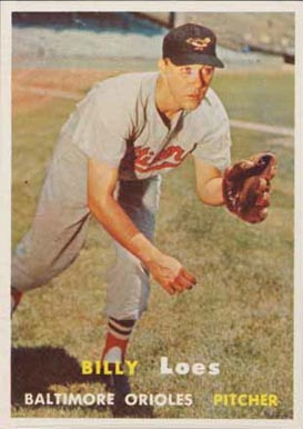 1957 Topps Billy Loes #244 Baseball Card
