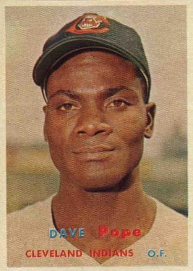 1957 Topps Dave Pope #249 Baseball Card