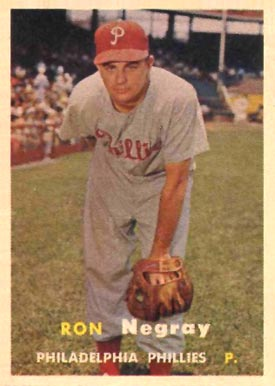 1957 Topps Ron Negray #254 Baseball Card
