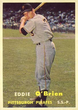 1957 Topps Eddie O'Brien #259 Baseball Card