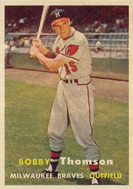 1957 Topps Bobby Thomson #262 Baseball Card