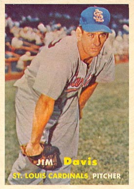 1957 Topps Jim Davis #273 Baseball Card