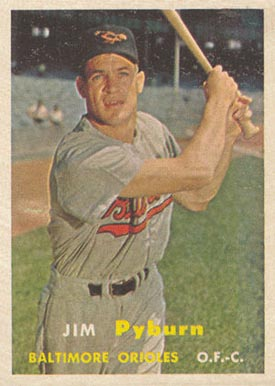 1957 Topps Jim Pyburn #276 Baseball Card