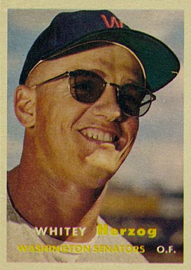 1957 Topps Whitey Herzog #29 Baseball Card
