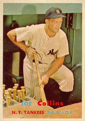 1957 Topps Joe Collins #295 Baseball Card