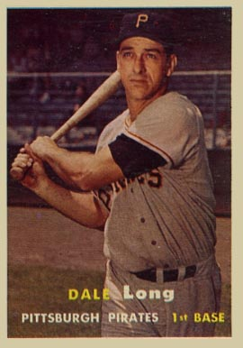 1957 Topps Dale Long #3 Baseball Card