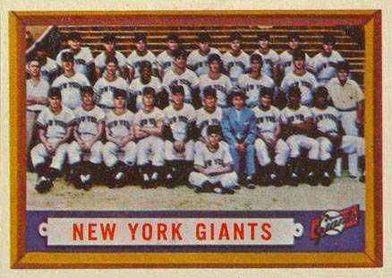 1957 Topps New York Giants Team #317 Baseball Card