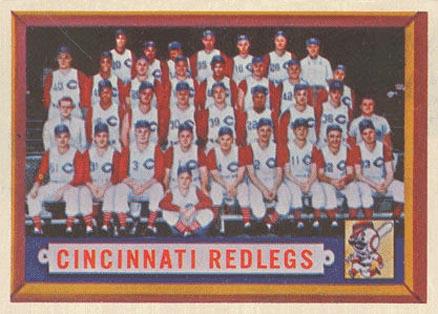 Verzamelkaarten, ruilkaarten 1957 Topps #322 Cincinnati Redlegs ...