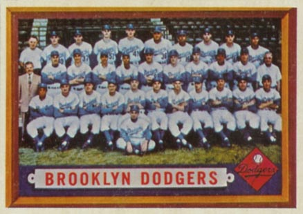 1957 Topps Brooklyn Dodgers #324 Baseball Card