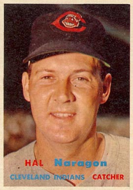 1957 Topps Hal Naragon #347 Baseball Card