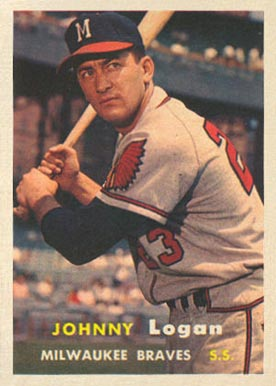 1957 Topps Johnny Logan #4 Baseball Card