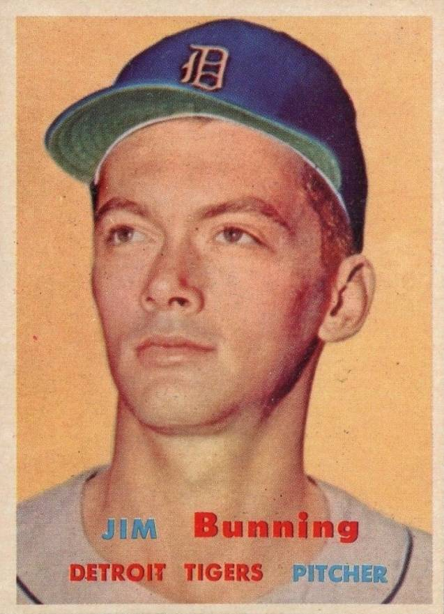1957 Topps Jim Bunning #338 Baseball Card