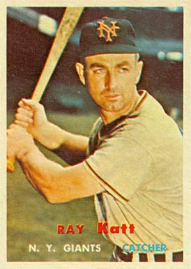 1957 Topps Ray Katt #331 Baseball Card