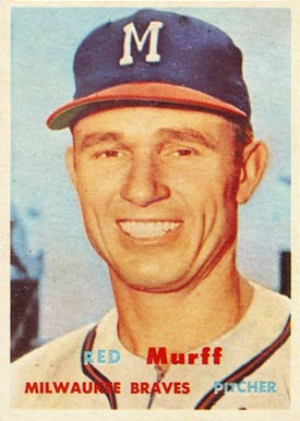 1957 Topps Red Murff #321 Baseball Card