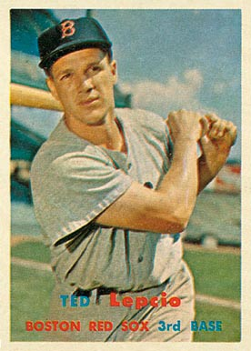 1957 Topps Ted Lepcio #288 Baseball Card