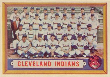 1957 Topps Cleveland Indians Team #275 Baseball Card