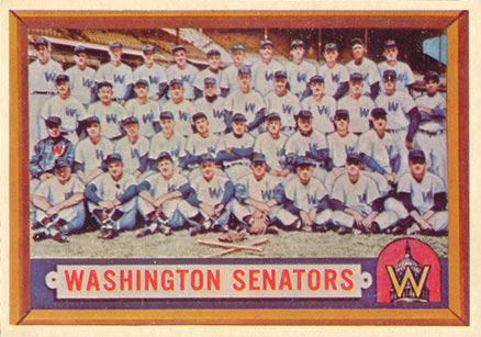 1957 Topps Washington Senators Team #270 Baseball Card