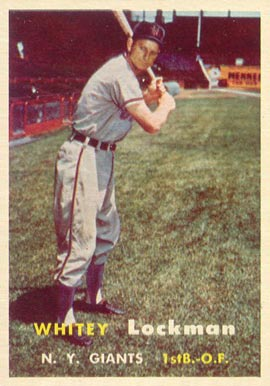 1957 Topps Whitey Lockman #232 Baseball Card