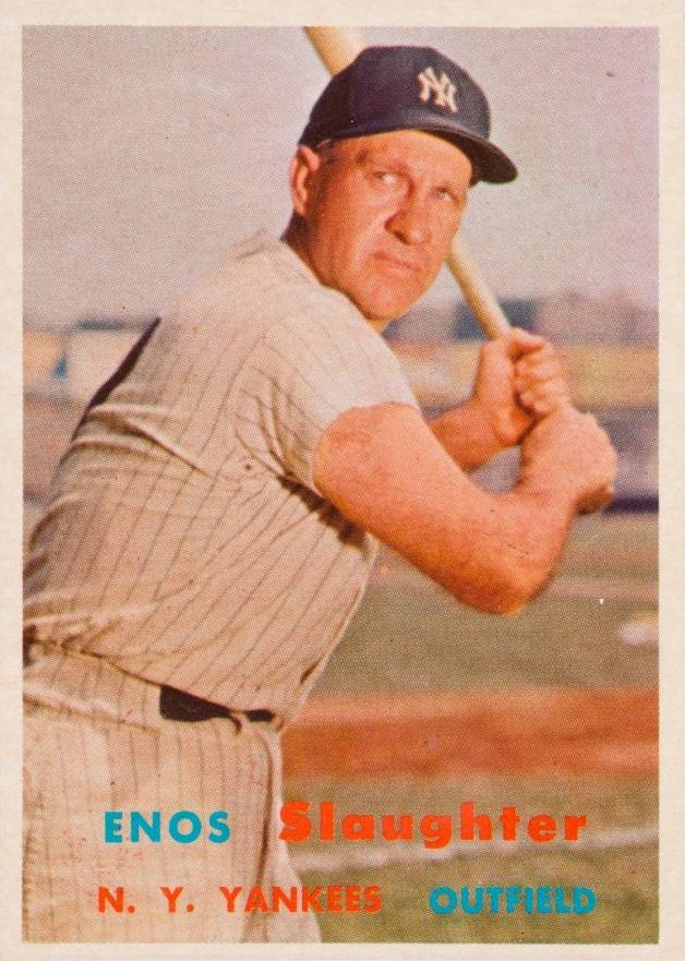 1957 Topps Enos Slaughter #215 Baseball Card