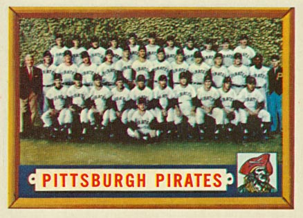 1957 Topps Pittsburgh Pirates Team #161 Baseball Card