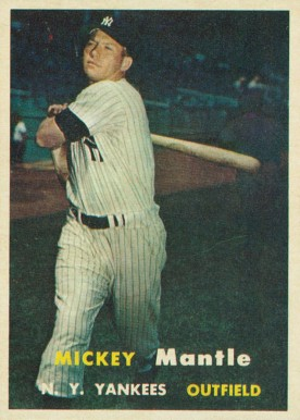 1957 Topps Mickey Mantle #95 Baseball Card