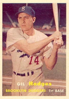 1957 Topps Gil Hodges #80 Baseball Card