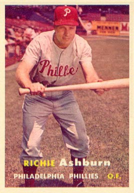 1957 Topps Richie Ashburn #70 Baseball Card