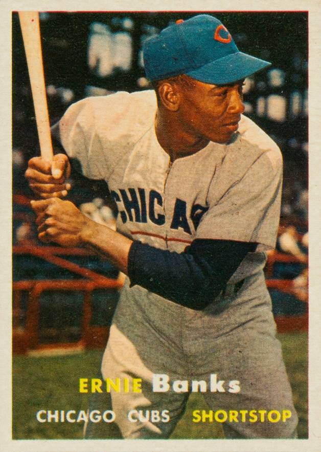 1957 Topps Ernie Banks #55 Baseball Card
