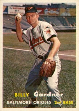 1957 Topps Billy Gardner #17 Baseball Card