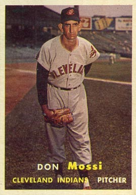 1957 Topps Don Mossi #8 Baseball Card