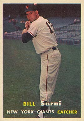 1957 Topps Bill Sarni #86 Baseball Card