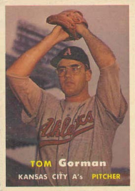 1957 Topps Tom Gorman #87 Baseball Card