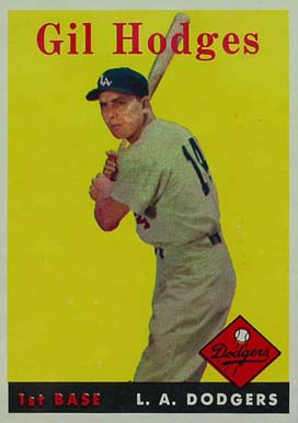 1958 Topps Gil Hodges #162 Baseball Card