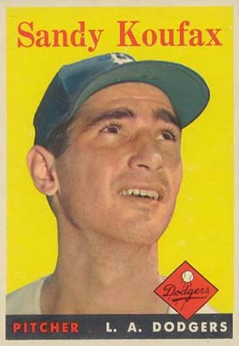 1958 Topps Sandy Koufax #187 Baseball Card