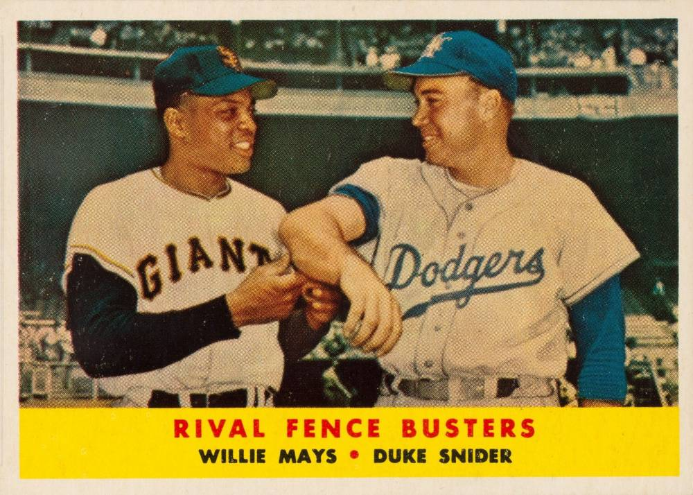 1958 Topps Rival Fence Busters #436 Baseball Card