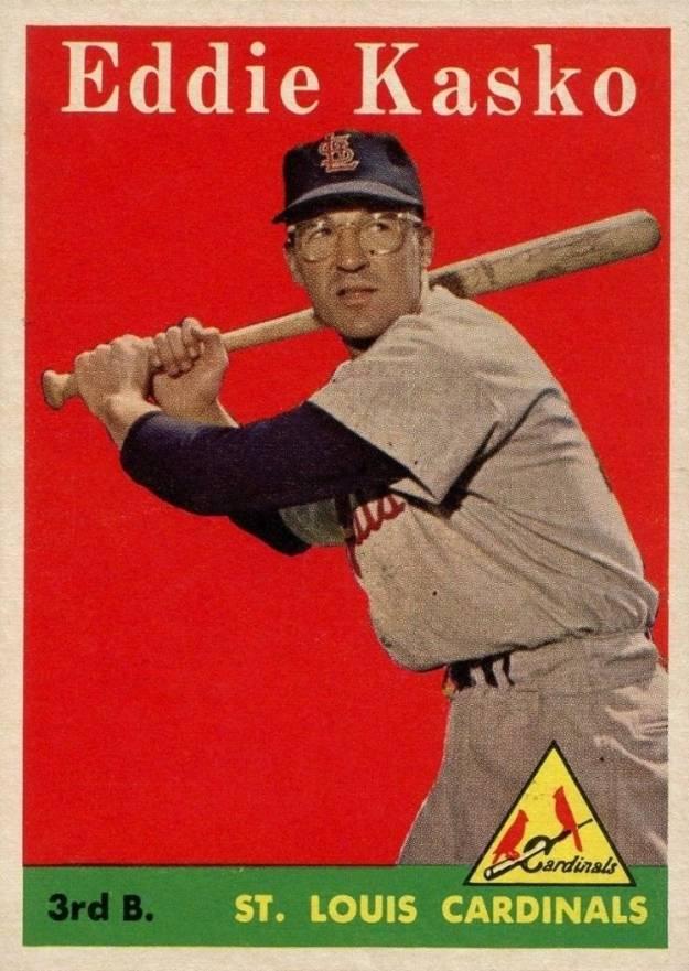 1958 Topps Eddie Kasko #8w Baseball - VCP Price Guide
