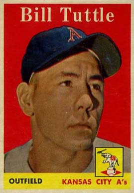 1958 Topps Bill Tuttle #23w Baseball Card