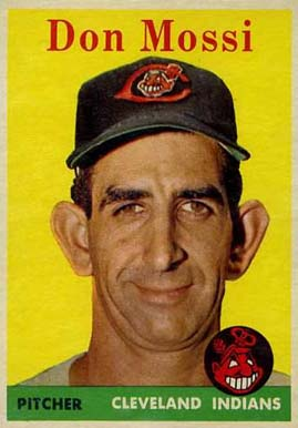 1958 Topps Don Mossi #35w Baseball Card