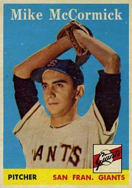 1958 Topps Mike McCormick #37 Baseball Card
