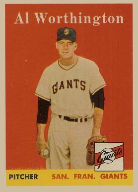 1958 Topps Al Worthington #427 Baseball Card