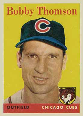 1958 Topps Bobby Thomson #430 Baseball Card