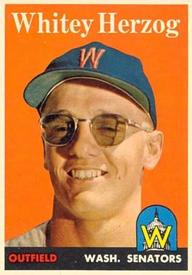 1958 Topps Whitey Herzog #438 Baseball Card