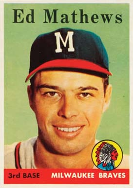 1958 Topps Eddie Mathews #440 Baseball Card