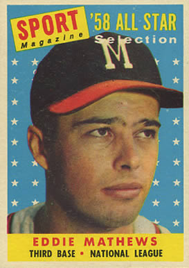 1958 Topps Eddie Mathews #480 Baseball Card