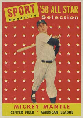 1958 Topps Mickey Mantle #487 Baseball Card