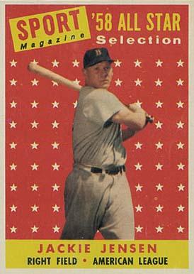 1958 Topps Jackie Jensen 489 Baseball Vcp Price Guide
