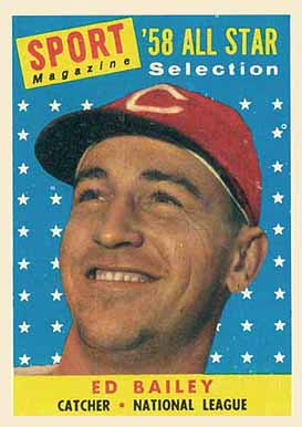 1958 Topps Ed Bailey #490 Baseball Card